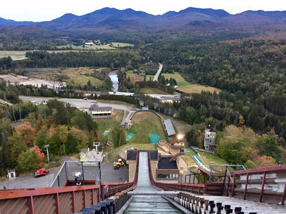 At the Olympic Ski Jumping Complex